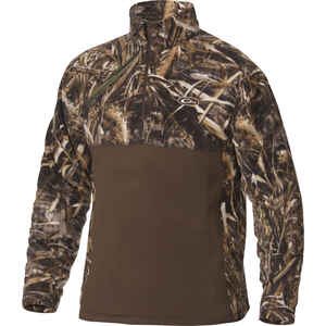 Drake  MST  S  Long Sleeve  Men's  Collared  Brown/Camo  Pullover