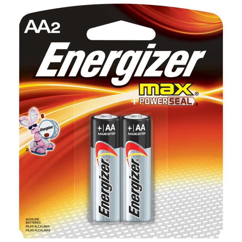 Energizer  MAX  AA  Alkaline  Batteries  1.5 volts 2 pk Carded