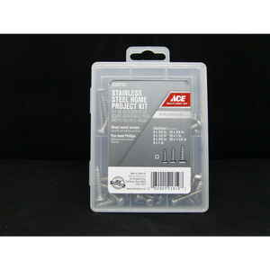 Ace  6  8  10 Sizes  x 1/2 - 1-1/2 in. L Phillips  Pan Head Stainless Steel  Sheet Metal Screw Kit