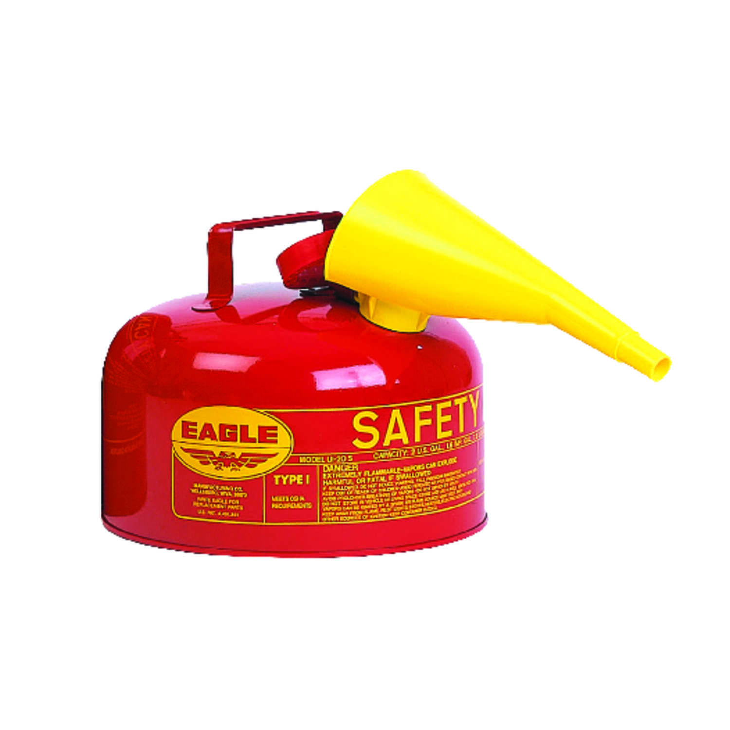 Eagle  Steel  Safety Gas Can  2 gal.