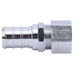 Sharkbite 1/2 in. Barb x 3/8 in. Dia. Compression Brass Adapter