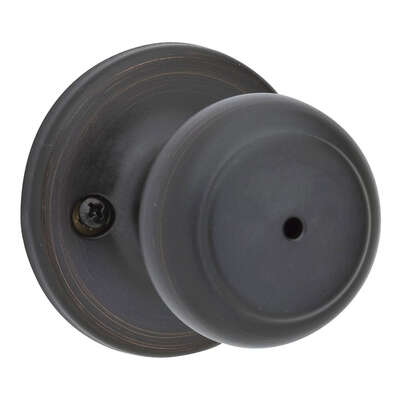 Kwikset Cove Venetian Bronze Metal Privacy Knob 3 Right or Left Handed