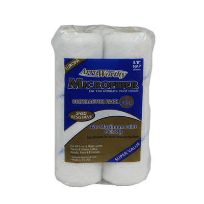 Arroworthy Microfiber 9 in. W x 3/8 in. Paint Roller Cover 4 pk