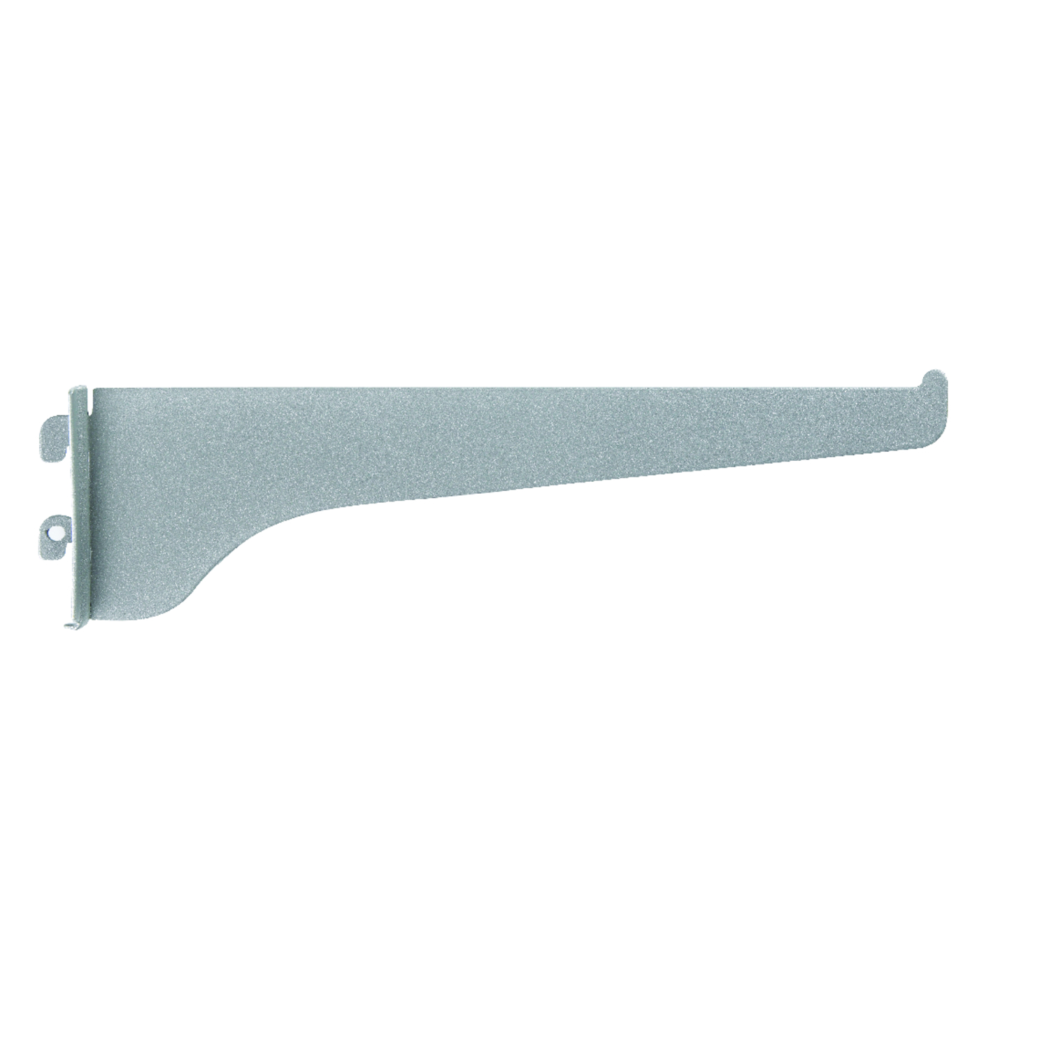 Knape & Vogt  Titanium  White  Steel  16 Ga. Regular Duty  Bracket  2.5 in. H x 0.5 in. W x 10 in. L