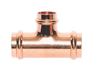 Mueller Streamline  Streamline  3/4 in. Press   x 3/4 in. Dia. Press  Copper  Tee