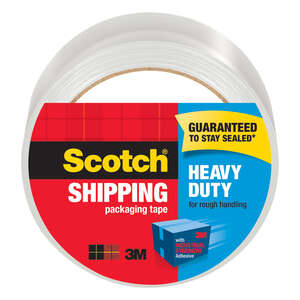 Scotch  1.88 in. W x 1.88 in. W x 54.6 ft. L x 54.6 yd. L Clear  Packaging Tape