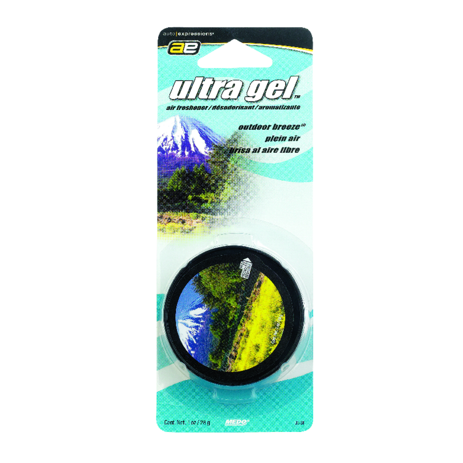 Medo  Ultra Gel  Outdoor Breeze  1 oz. Air Freshener