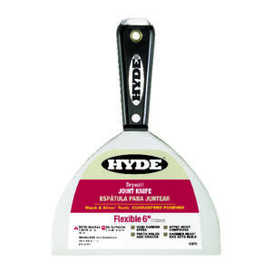 Hyde  Black and Silver  6 in. W x 0.63 in. H x 8.5 in. L x 6 in. W Flexible  Joint Knife  High Carbo