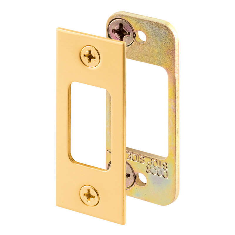 Prime-Line  2.75 in. H x 1.125 in. L Brass-Plated  Steel  Latch Strike Plate