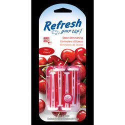 Refresh Your Car!  Very Cherry Scent Car Vent Clip  4 pk