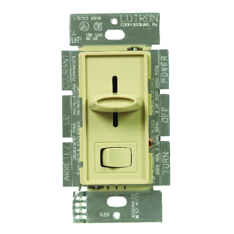 Lutron Skylark Ivory 600 Watts Dimmer Switch 1 3 Way Ace Hardware Electronic