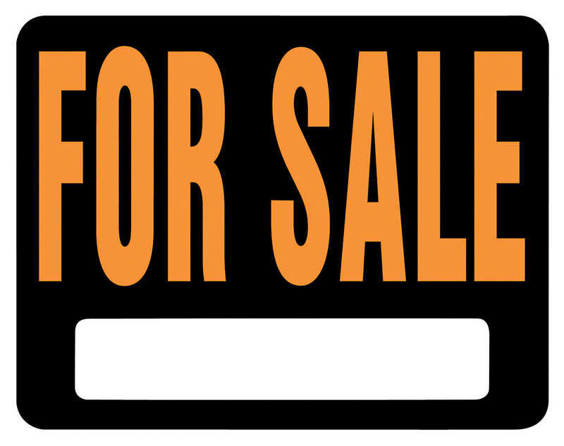 Hy-Ko  English  For Sale  Sign  Plastic  15 in. H x 19 in. W