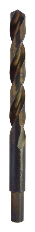 Ace  15/32 in. Dia. x 3-1/8  L Black Oxide  Drill Bit  3/8 in. Round Shank  1 pc.