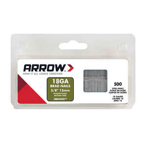 Arrow Fastener  BN18  18 Ga.  x 5/8 in. L Galvanized  Steel  Brad Nails  1000 pk 0.32 lb.