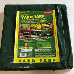 Gosport 5.33 ft. W x 5.33 ft. L Heavy Duty Polyethylene Yard Tarp Green