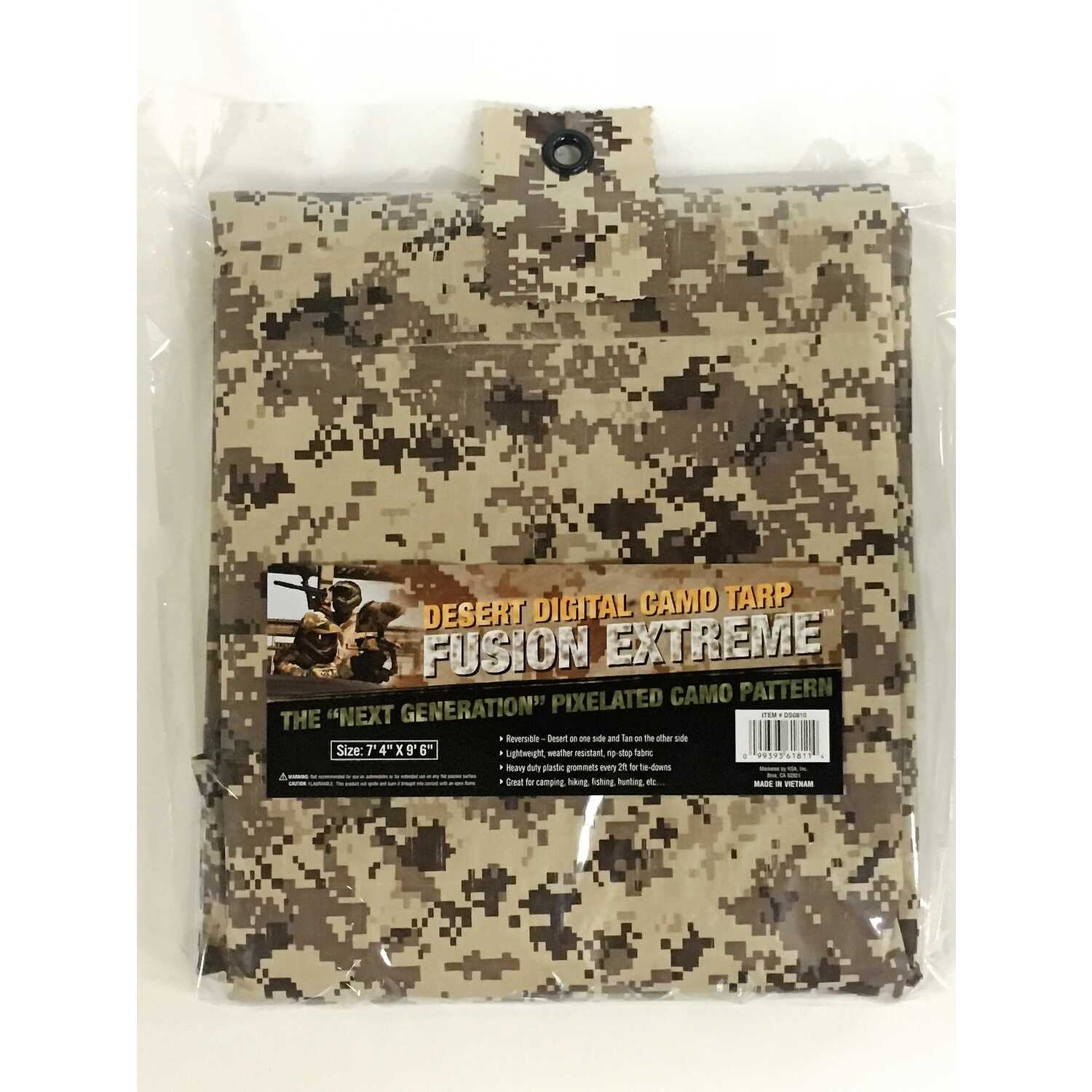 Fusion Extreme  8 ft. W x 10 ft. L Medium Duty  Tarp  Digital Camouflage  Polyethylene