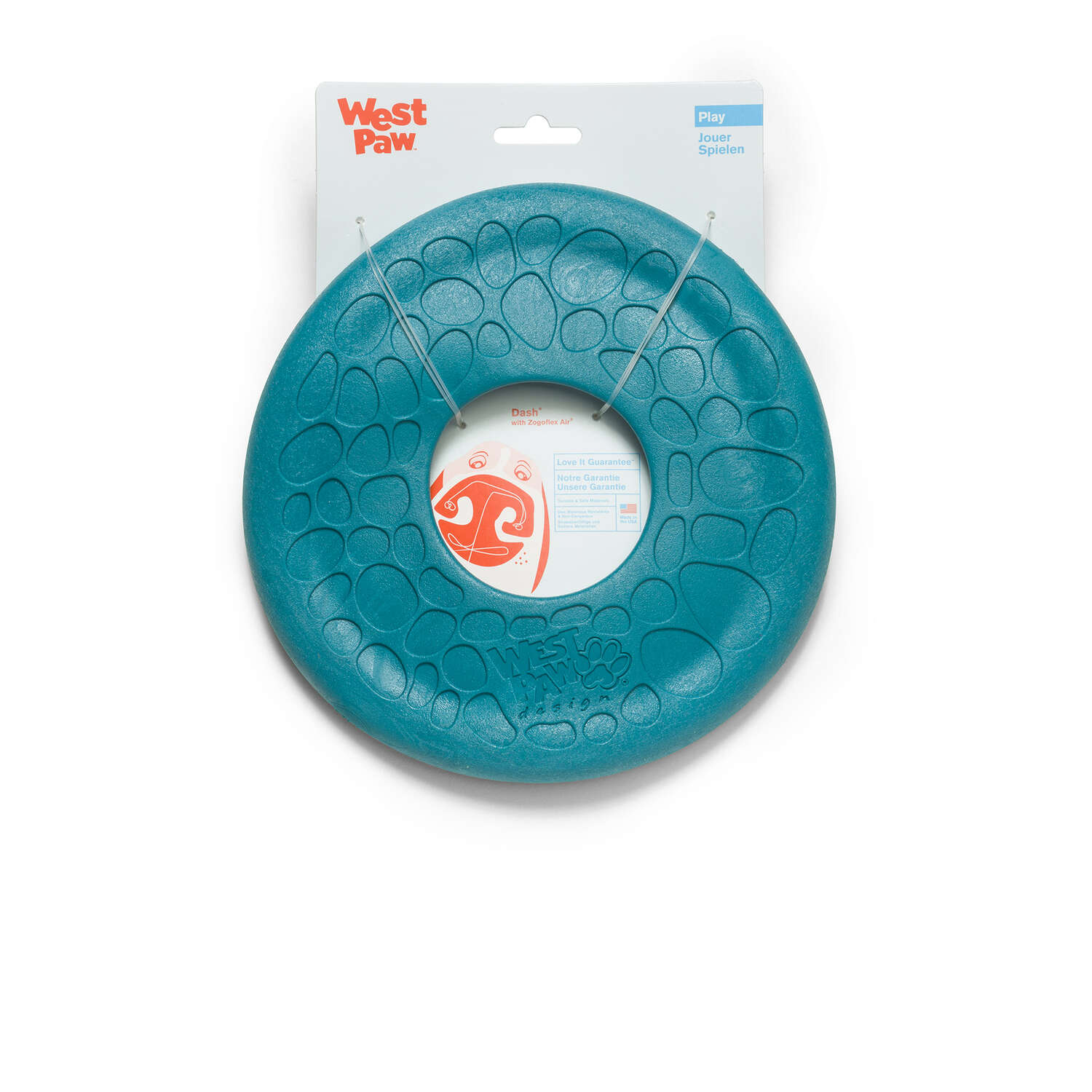 West Paw  Zogoflex Air  Blue  Disc  Frisbee  Medium  Synthetic Rubber