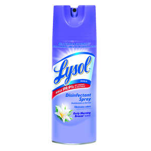 Lysol  Early Morning Breeze Scent Disinfectant Spray  12.5 oz. Spray