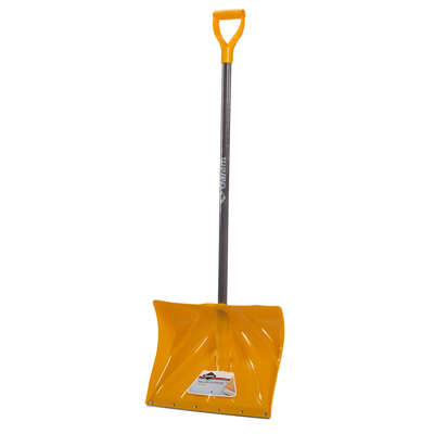 Garant Alpine 18 in. W x 51 in. L Poly Snow Shovel