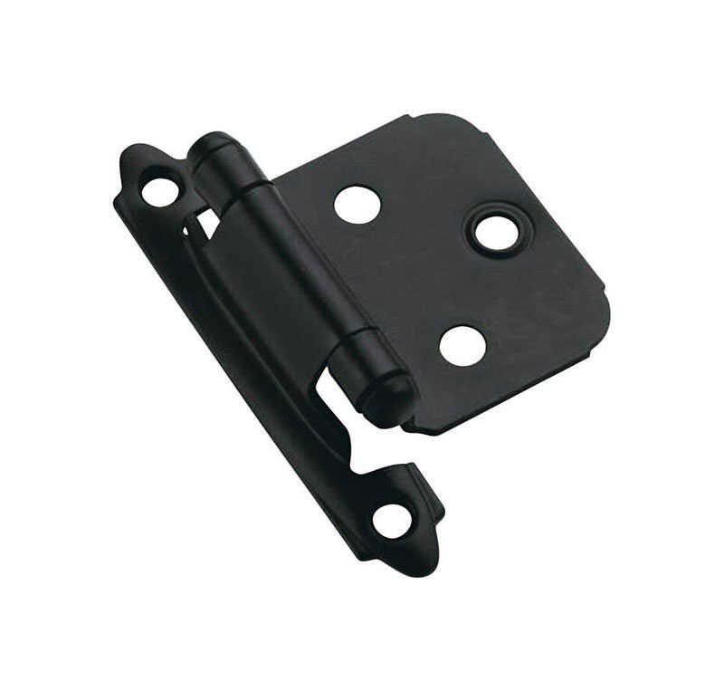 Amerock  1 13/16 in. W x 2-3/4 in. L Steel  Self-Closing Hinge  2 pk