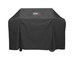 Weber  Black  Grill Cover  65 in. W x 25 in. D x 44.5 in. H For Genesis II and Genesis II LX 400 ser