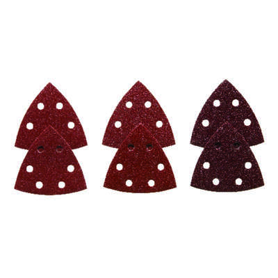 Bosch  3-1/2 in. L x 3.75 in. W Assorted Grit Aluminum Oxide  Detail Sanding Triangle  6 pk