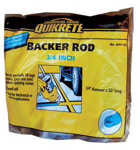 Quikrete  Gray  Foam  Backer Rod  3/4 x 20 ft.