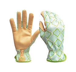 Digz  Women's  Indoor/Outdoor  Synthetic Leather  Planter  Gardening Gloves  Blue  L  1 pk