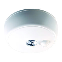 Mr. Beams  Motion-Sensing  Battery Powered  LED  White  Ceiling Light