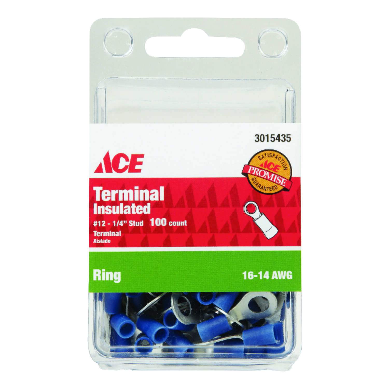 Ace Ring Terminal Blue 100 pk