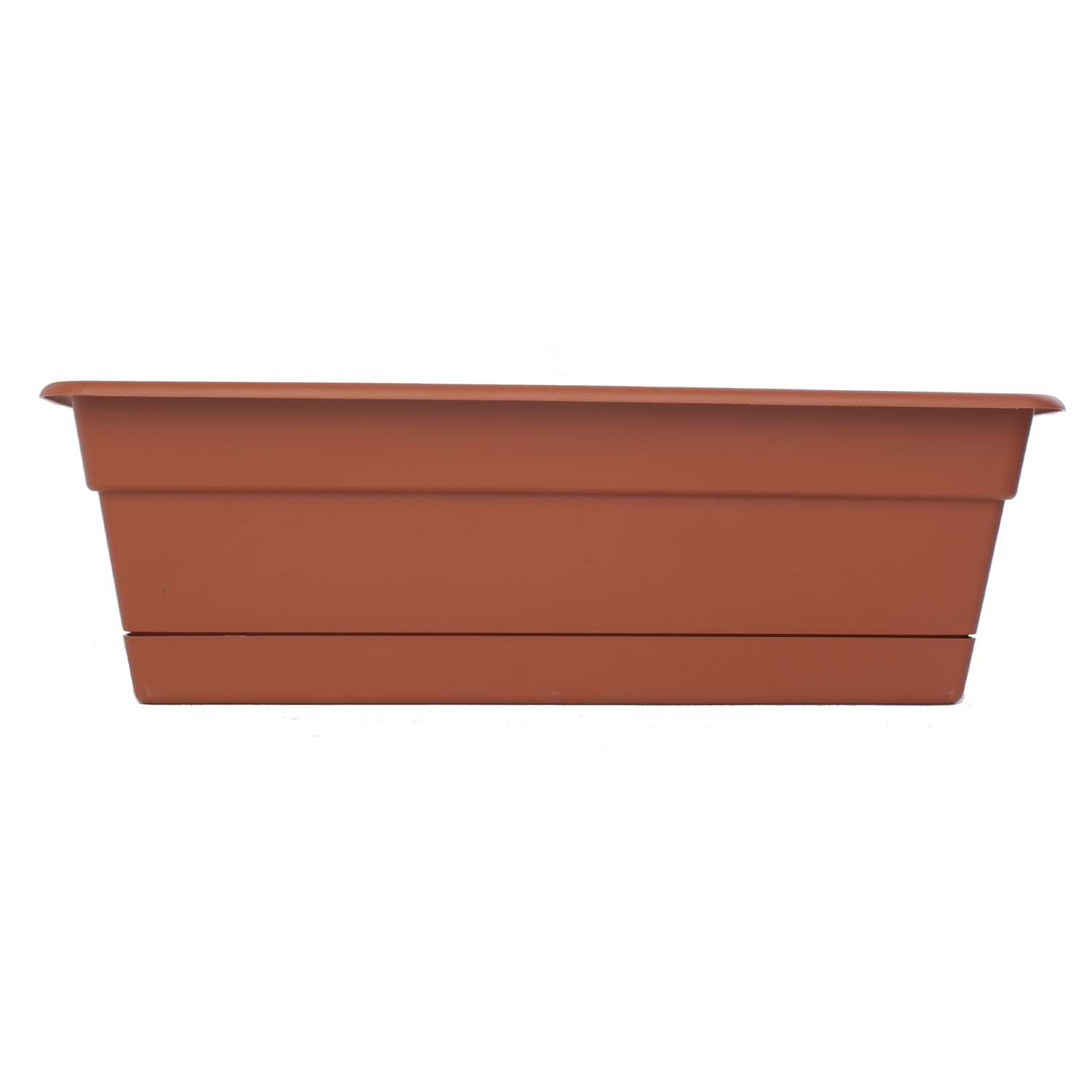 Bloem Living  5.75 in. H x 24 in. W x 7.5 in. D Plastic  Window Box  Terracotta