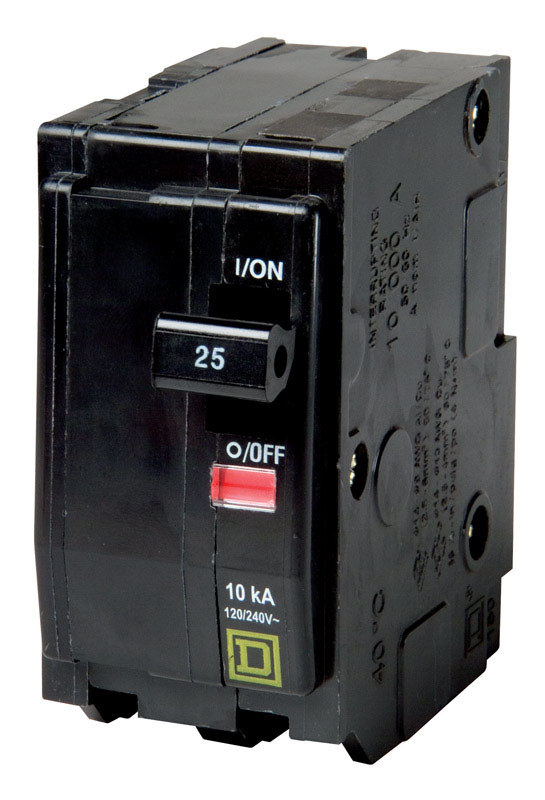 Square D  HomeLine  25 amps Plug In  2-Pole  Circuit Breaker