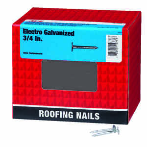 Ace  3/4 in. L Roofing  Electro-Galvanized  Steel  Nail  Smooth Shank  Large  5 lb.