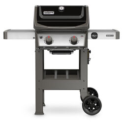 Weber  Spirit II E-210  Liquid Propane  Grill  Black  2 burners