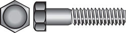Hillman  3/8 in. Dia. x 3-1/2 in. L Zinc Plated  Steel  Hex Bolt  50 pk