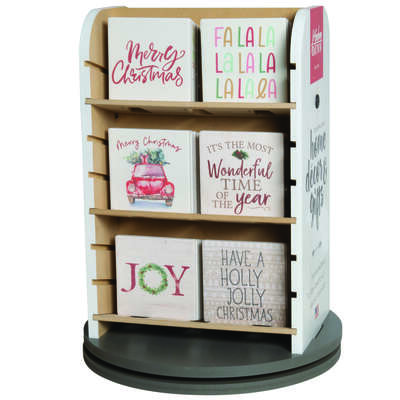 P Graham Dunn  4 in. H x .25 in. W x 4 in. L Assorted  Ceramic  Coasters