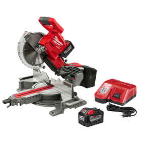 Milwaukee  M18 FUEL  10 in. Cordless  Brushless Kit 9 amps 4000 rpm 18 volt Dual-Bevel Sliding Compo
