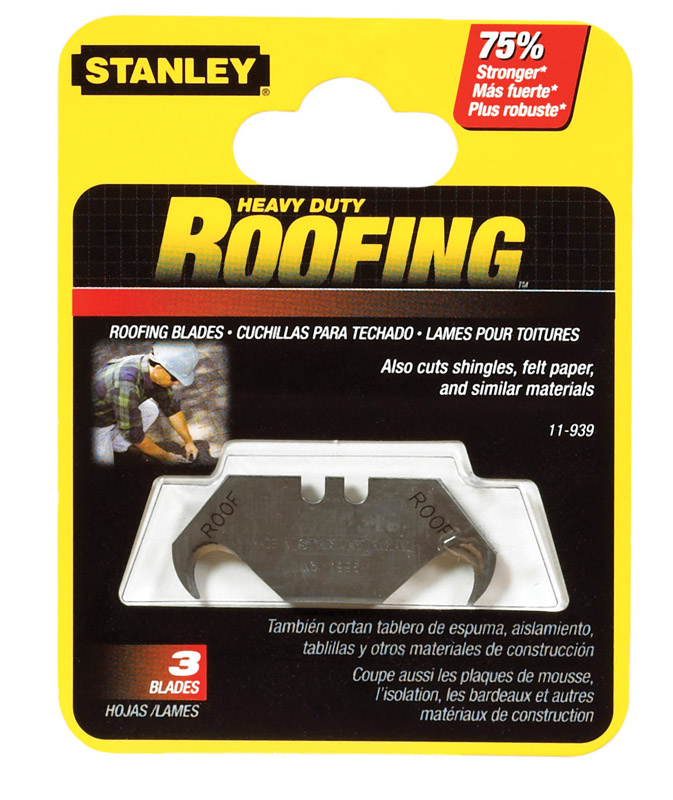 Stanley  1-7/8 in. L x 0.032 in.  Steel  Hook  Replacement Blade  5 pk