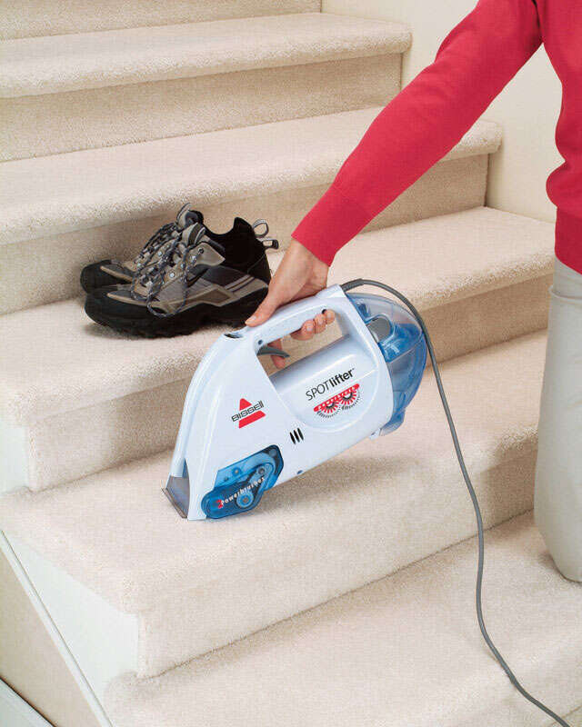 Bissell  SPOTlifter  Bagless  Handheld Carpet Cleaner  2 amps Standard  White