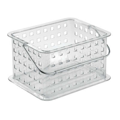 InterDesign Clarity 8.8 in. L x 5.3 in. W x 6.9 in. H Clear Storage Basket
