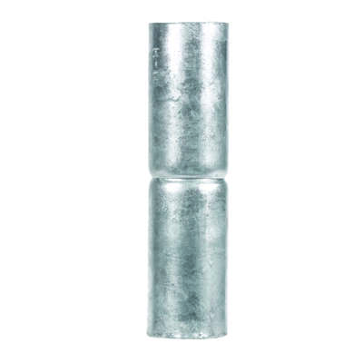YardGard  5.9 in. L Steel  Chain Link Rail Sleeve  1 pk