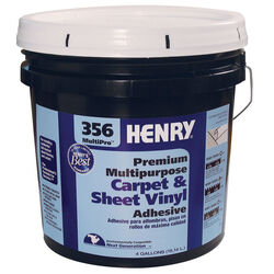 Henry  356 MultiPro Premium Multipurpose  High Strength  Paste  Carpet & Sheet Vinyl Adhesive  4 gal