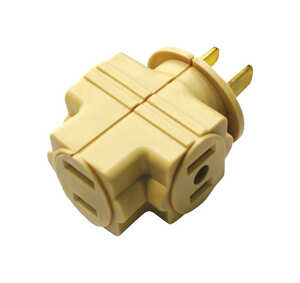 Ace  Polarized  3  1 pk Surge Protection Triple Outlet Adapter