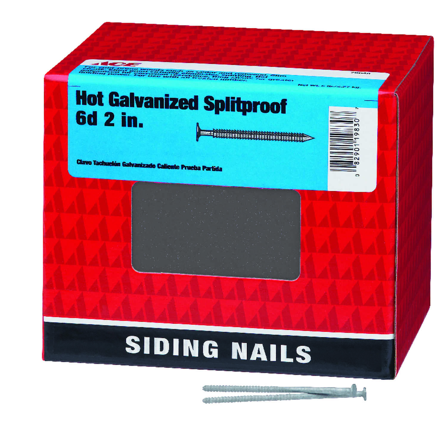 Ace  6D  2 in. L Siding  Steel  Nail  Ring  5 lb.
