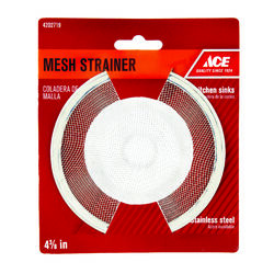 Ace  4-3/8 in. Dia. Chrome  Mesh Strainer