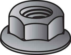 Hillman  3/8   Zinc-Plated  Steel  SAE  Whiz Lock Nut  100 pk 3/8 in.