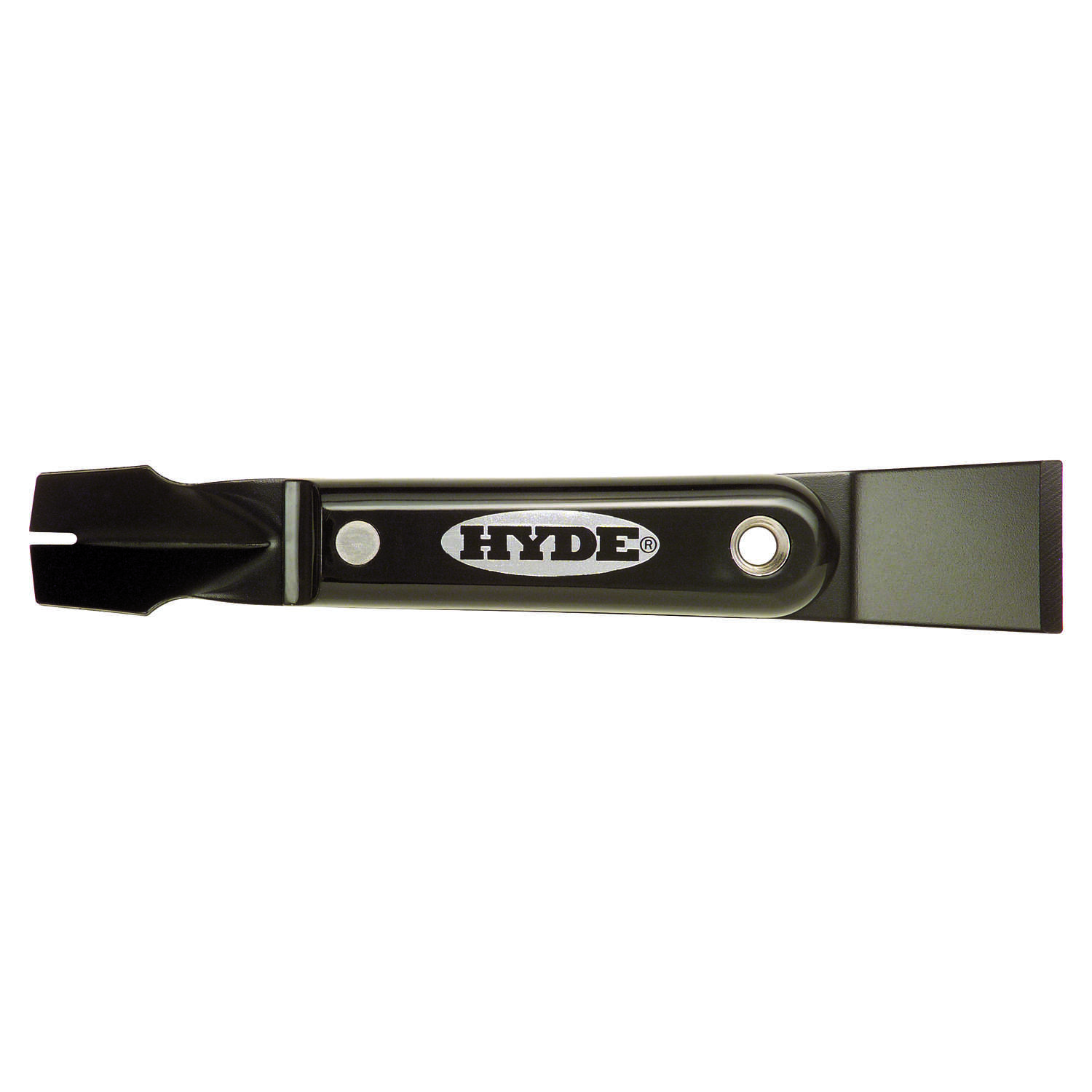 Hyde  1-1/4 in. W Carbon Steel  Stiff  2-in-1 Putty Knife