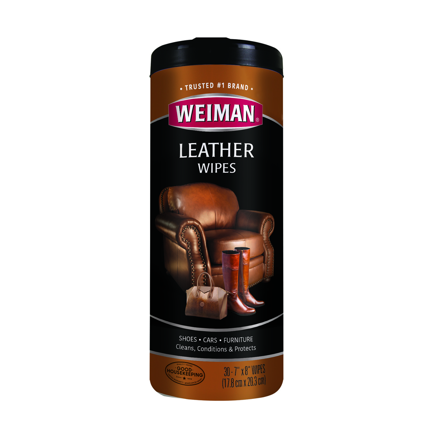 Weiman  Lemon Scent Leather Wipes  30  Wipes