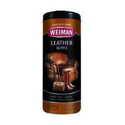 Weiman  Lemon Scent Leather Wipes  30 pk Wipes
