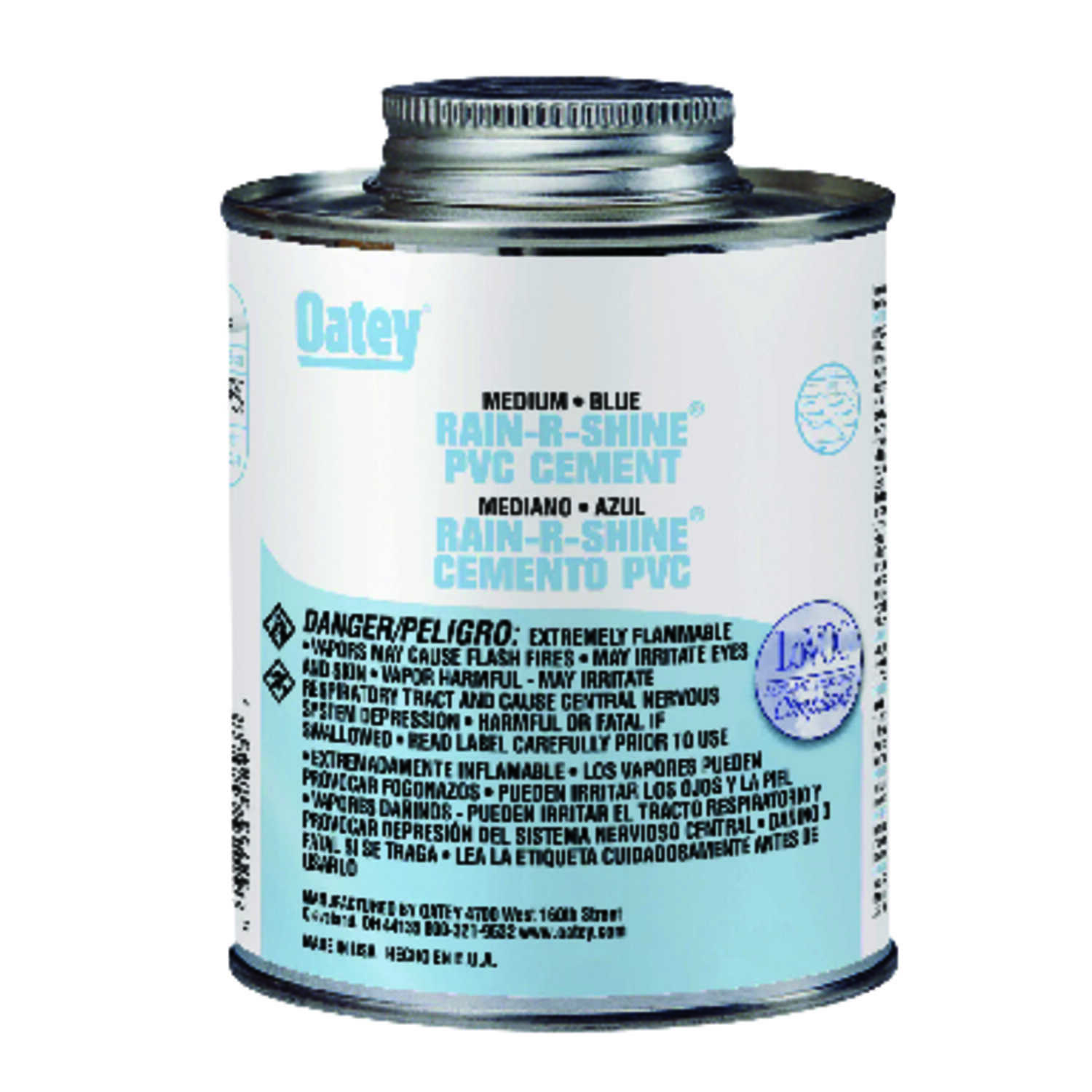 Oatey  Rain-R-Shine  Blue  Cement  4 oz. For PVC